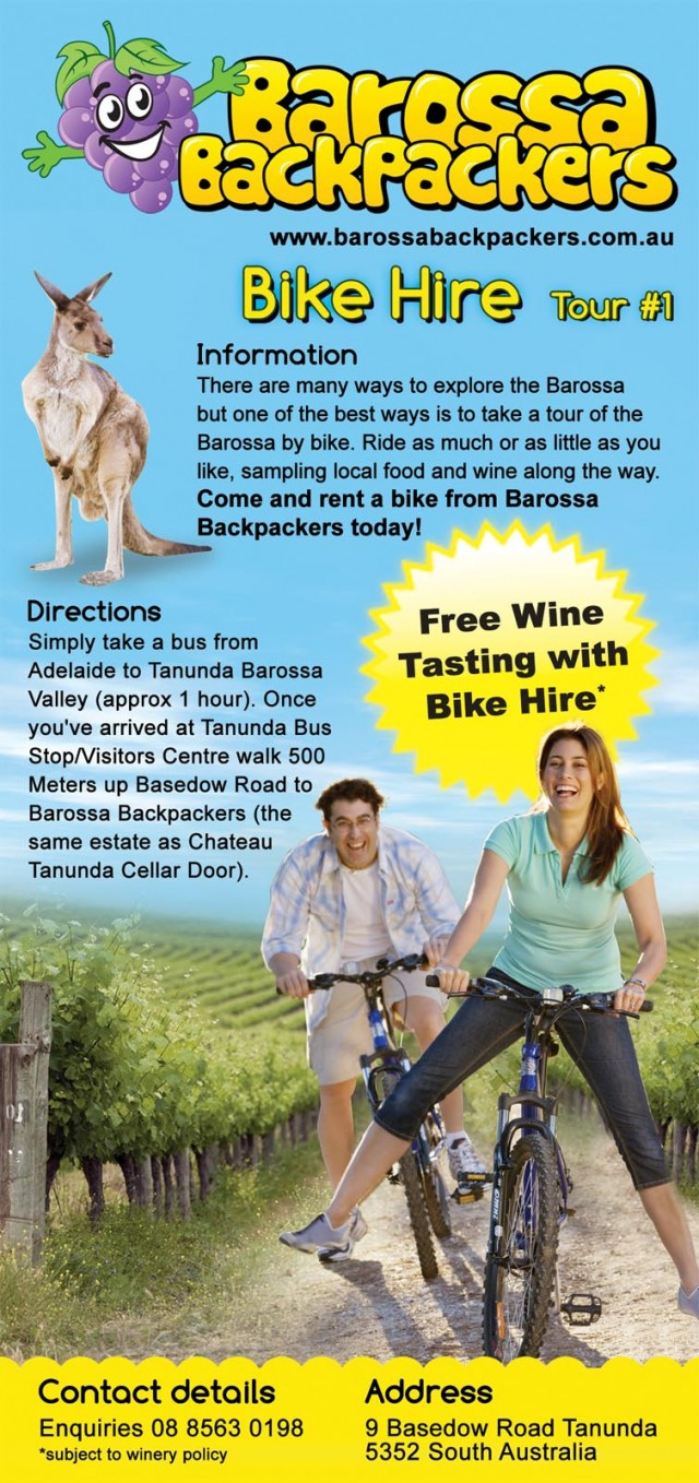 Bike Hire Barossa Backpackers